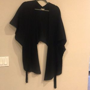 Free People Black wrap sweater. Size XS/S
